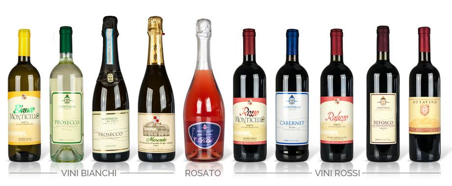 produzione e vendita vino tutti i vini monticello due carrare padova